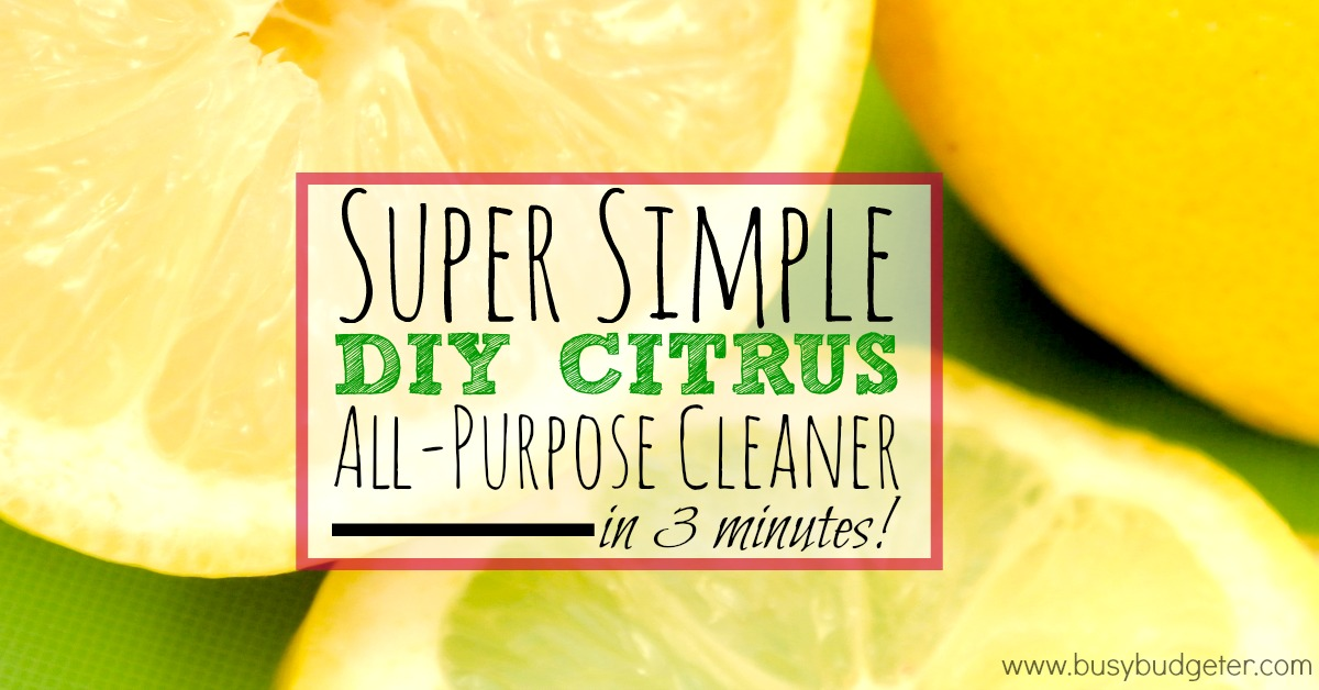 Super Simple Citrus Diy All Purpose Cleaner Save Time And