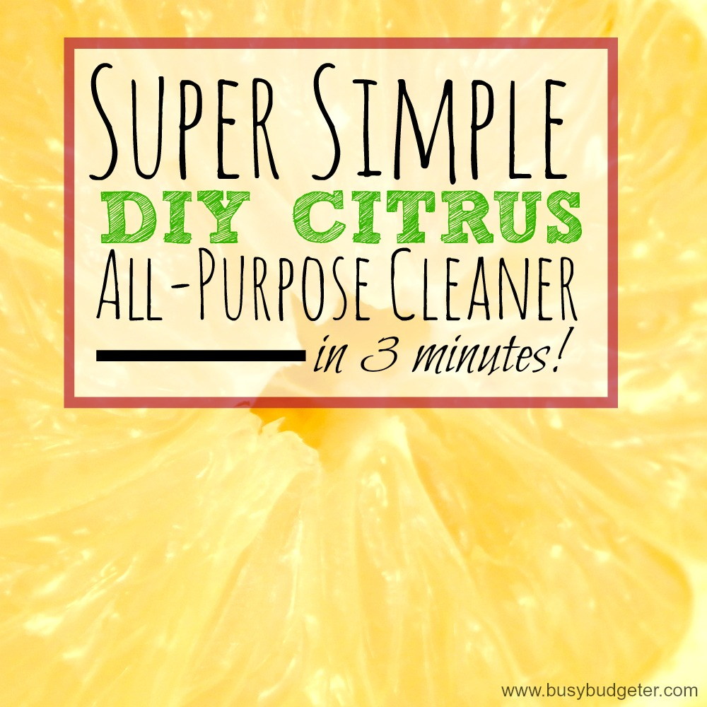 Whip up this super simple DIY citrus all purpose cleaner in just 3 minutes!