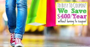 With Shopular. we save $400 a year without couponing