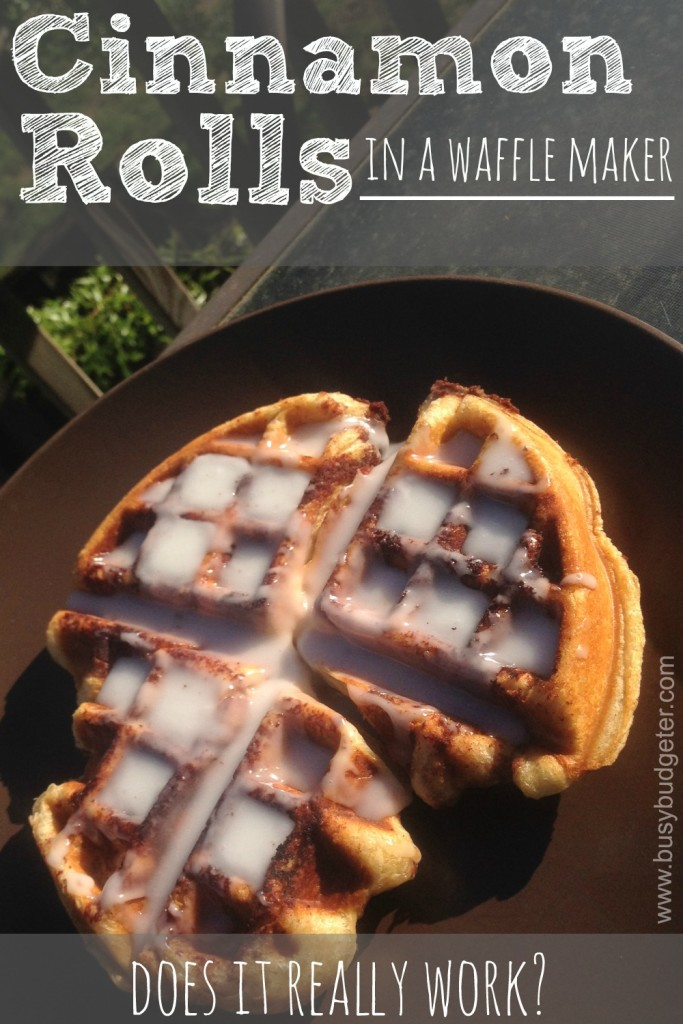 cinnamon rolls in a waffle maker, does it really work?