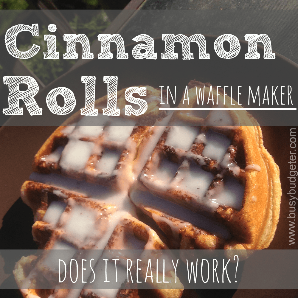 cinnamon rolls in a waffle maker - Does it really work?