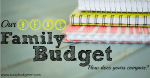 Need a Sample Budget to help you build your own? This is our real family budget.