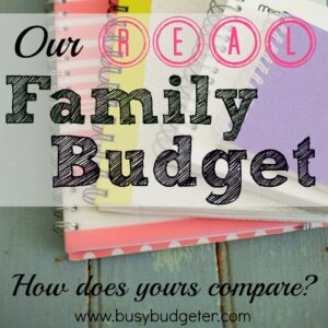 Need a sample budget to help you create yours? This is our real family budget.