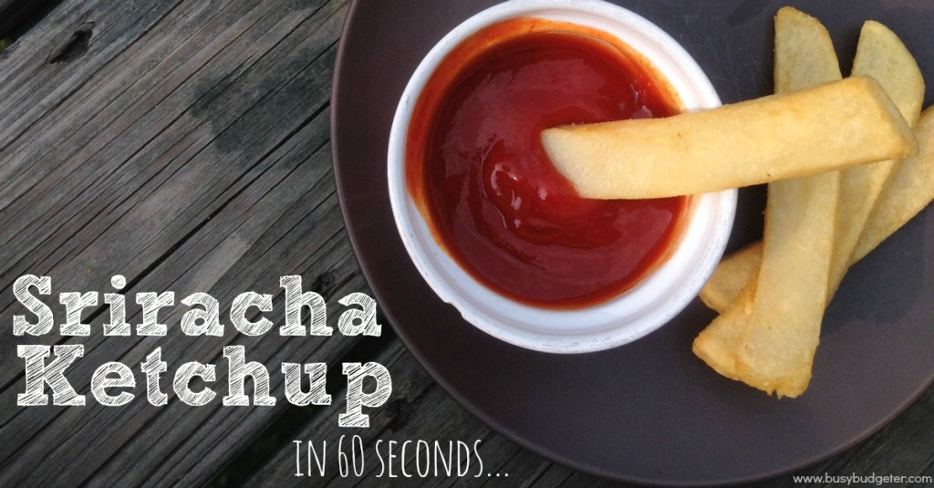 Sriracha ketchup is so easy to make at home!
