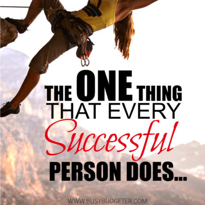 The One Thing That Every Successful Person Does