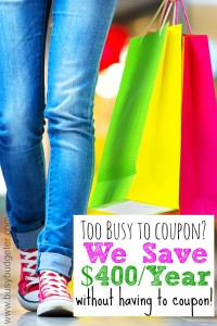 With Shopular, We save $400 a year without couponing.