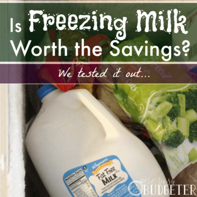 Can you freeze milk?