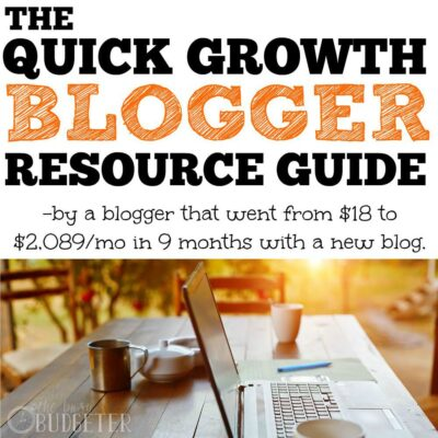 The Quick Growth Blogging Guide of Resources from a blogger that went from $18/month to $2,089/month in 9 Months