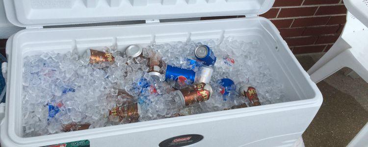 the shore- cooler of soda