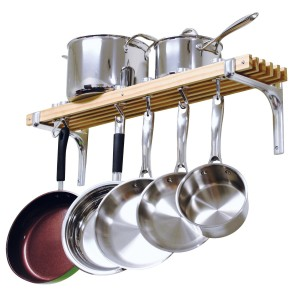 Cooks wall pot rack via Amazon.