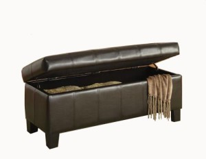 Homelegance storage ottoman via Amazon.