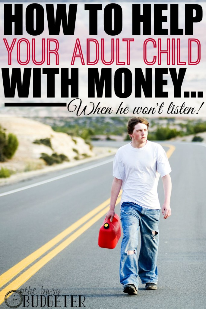How To Help Your Adult Child With Money - I totally relate to what's going on in this post. It can be totally overwhelming to see my daughter struggling and making bad choices.