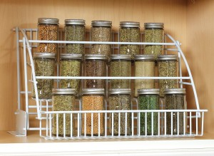 Rubbermaid spice rack via Amazon.