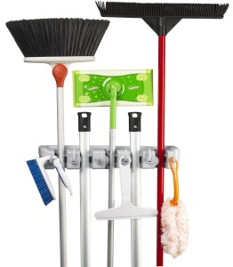 Spoga mop and broom organizer via Amazon.