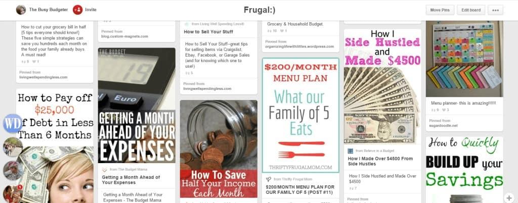 Frugal Pinterest