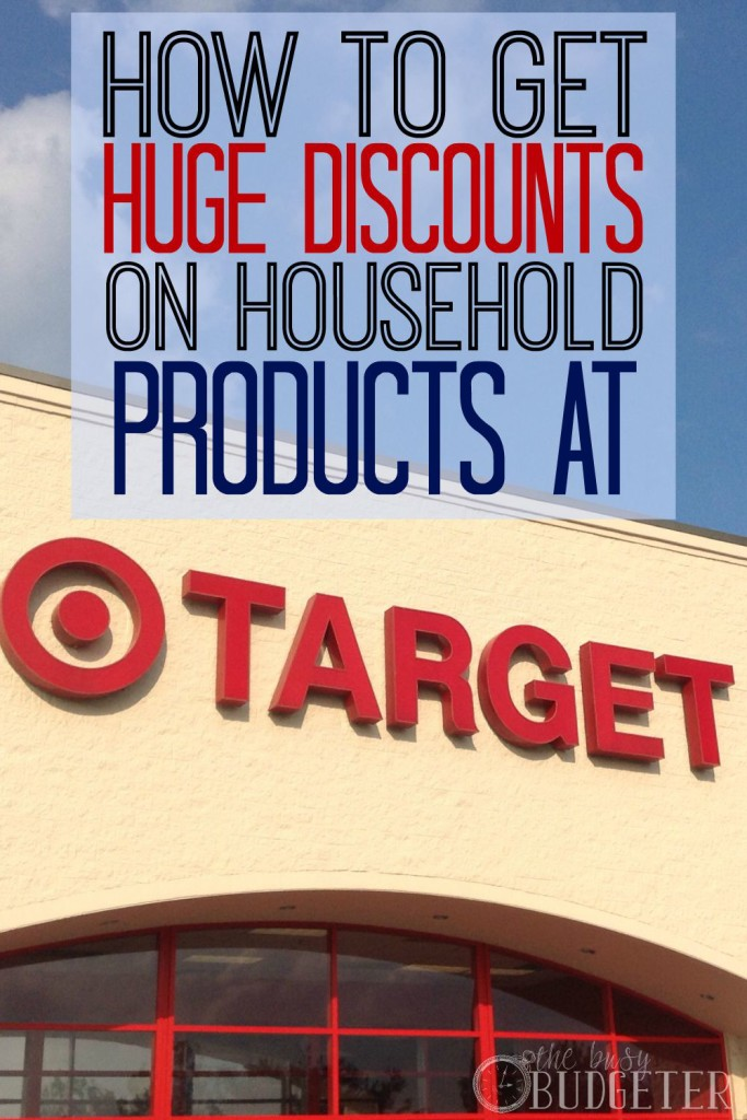 How to get huge discounts on household products at Target.