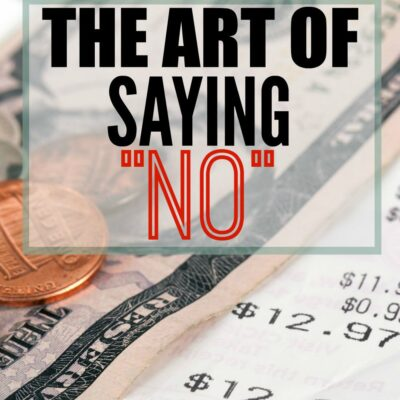 The art of saying No to friends when you need to save money