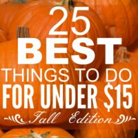 25 of the BEST Things to Do in the Fall for Under $15