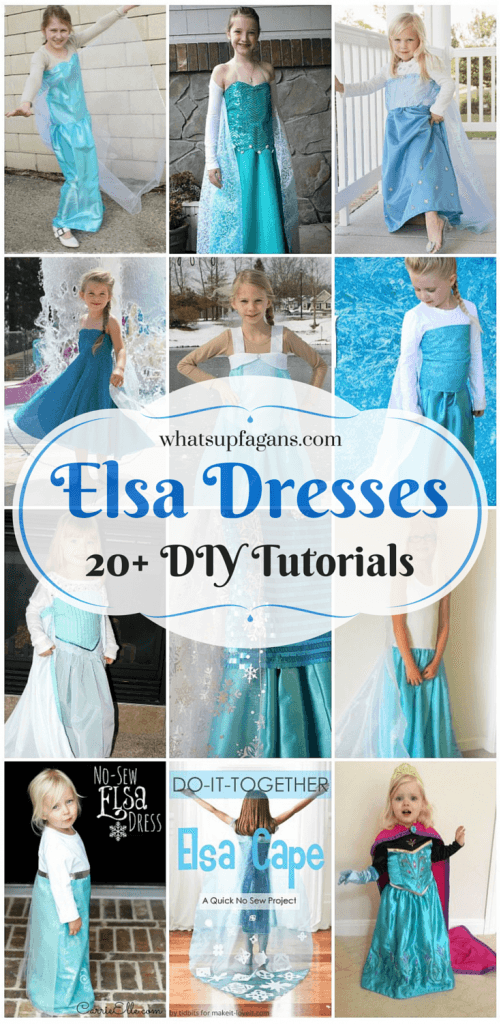 Elsa-Dresses3-501x1024  sc 1 st  The Busy Budgeter & Last Minute Cheap DIY Halloween Costume Round-Up - The Busy Budgeter