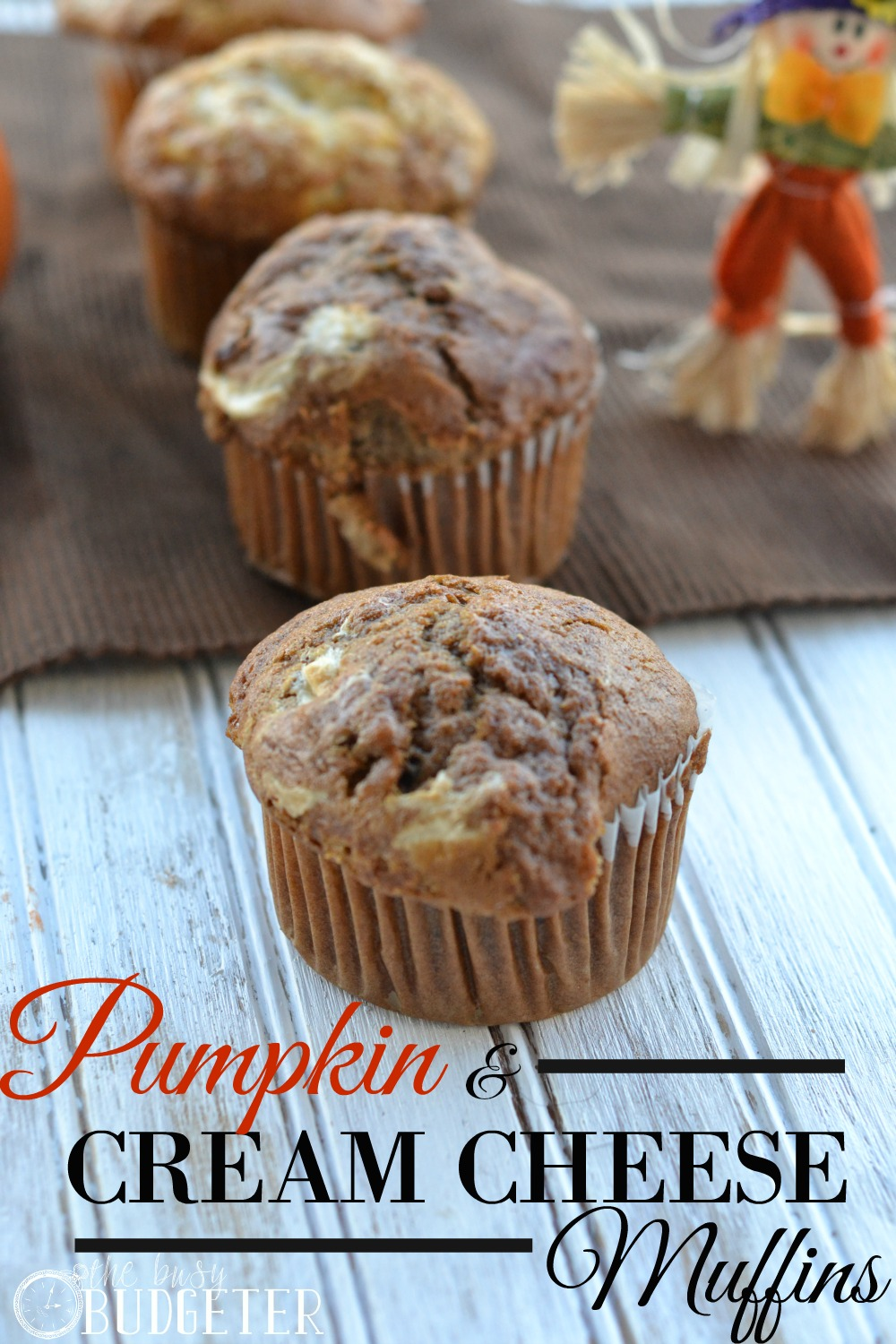 Pumpkin and cream cheese muffins