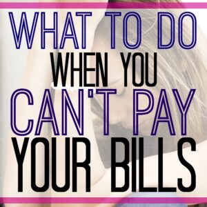 What to do when you can't pay your bills featured