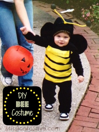 Last minute cheap diy halloween costume round up the busy budgeter diy bee costume from mission to save solutioingenieria Choice Image