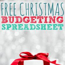 Free Christmas Budgeting Spreadsheet