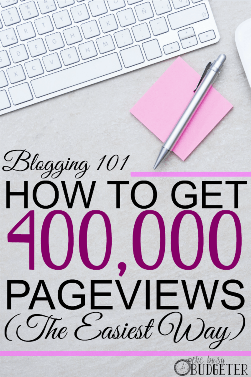 How to get 400,000 pageviews the easiest way...