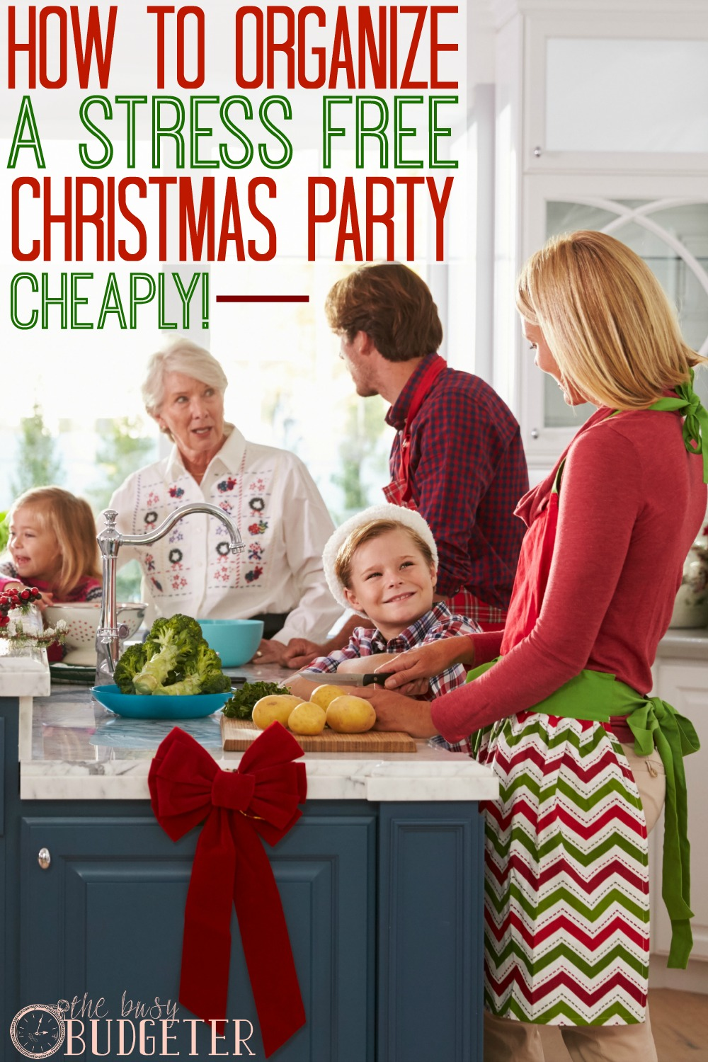 How to organize a stress free Christmas party! I throw a ton of parties. She's completely right. I started doing this about 3 years ago and it's made a world of difference! Parties went from being a ton of work to *almost* easy !
