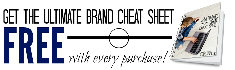 Ultimate brand Cheat Sheet Banner