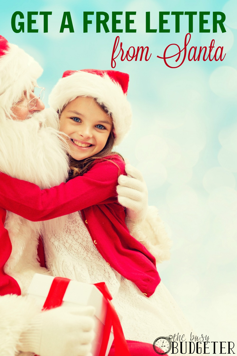 Get a free letter from santa! What a sweet idea! My little guy would love this.