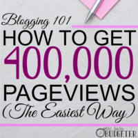 How to get to 400,000 Pageviews/month… the easiest way.