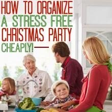 How I Organize a Stress Free Christmas Party (Cheaply!) with Grocery Delivery