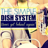 The Easiest Routine to Wash Dishes… Never Get Behind Again!