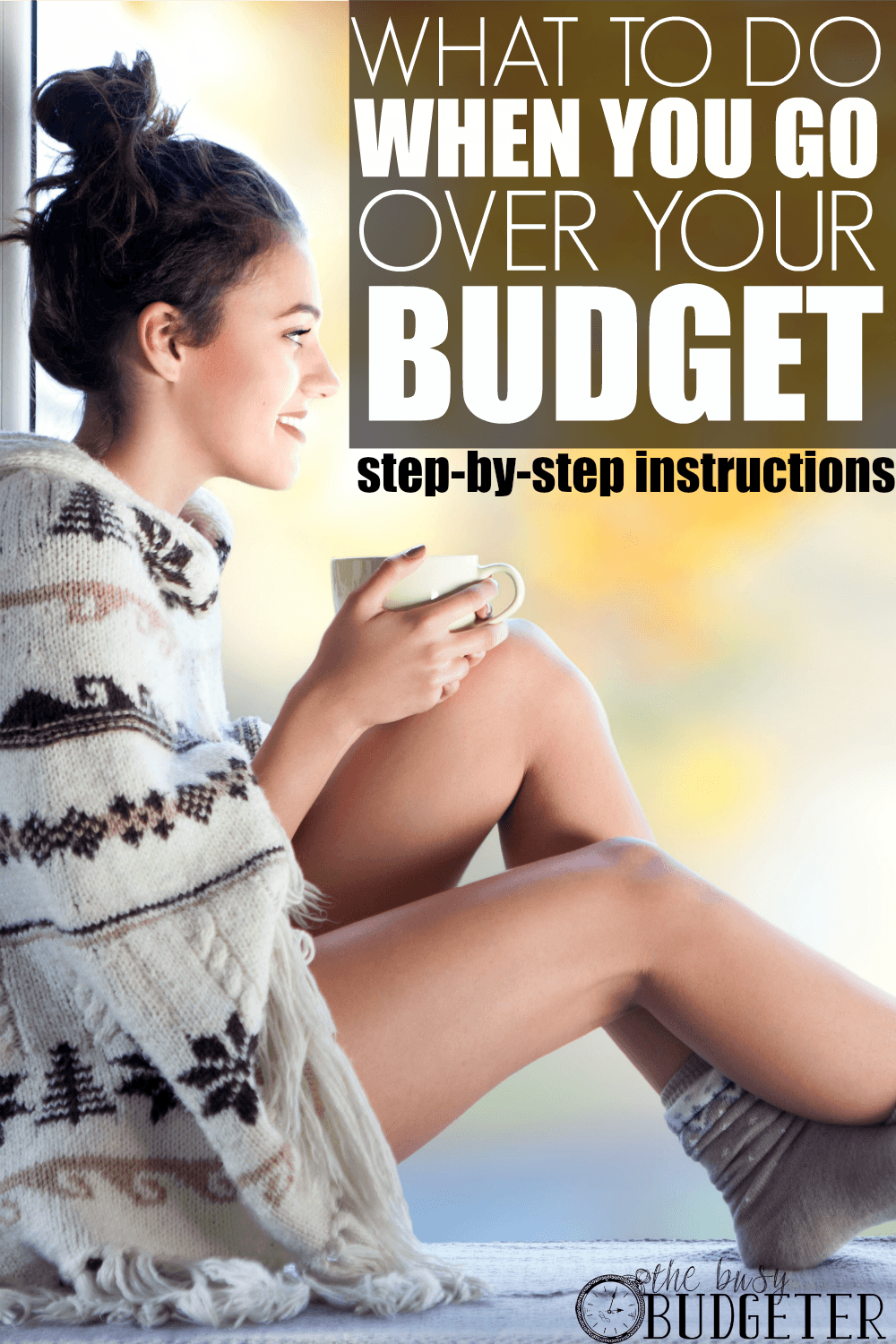 What to do when you go over your budget. ** Perfect timing haha, We've been over budget since Christmas! What a mess! Good Pin- easysteos to take to dig ourselves out of this hole.