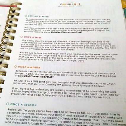 Goal setting best planner