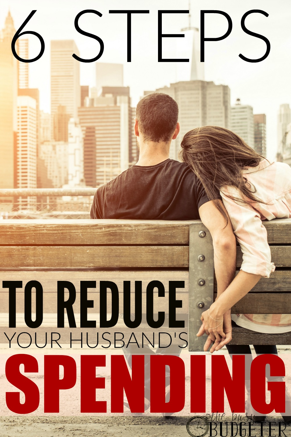 6 Steps to Reduce your Husband's Spending. * I was desperate! I'm so glad this worked. My husband doesn;t spend money out of control, but we just don't have a lot to spend. I've tried everything to get him to stop, but he just wouldn't. It was silly things, like coffee and lunch out. We had to get all the way to the step 6 but it worked! He hasn't gone off of our budget since!