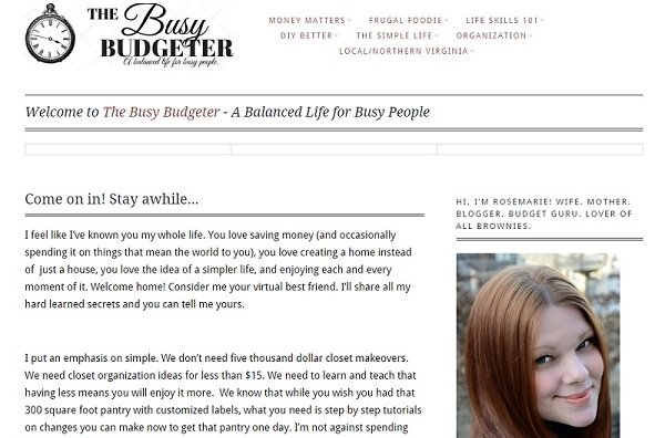 Busy Budgeter Old Theme
