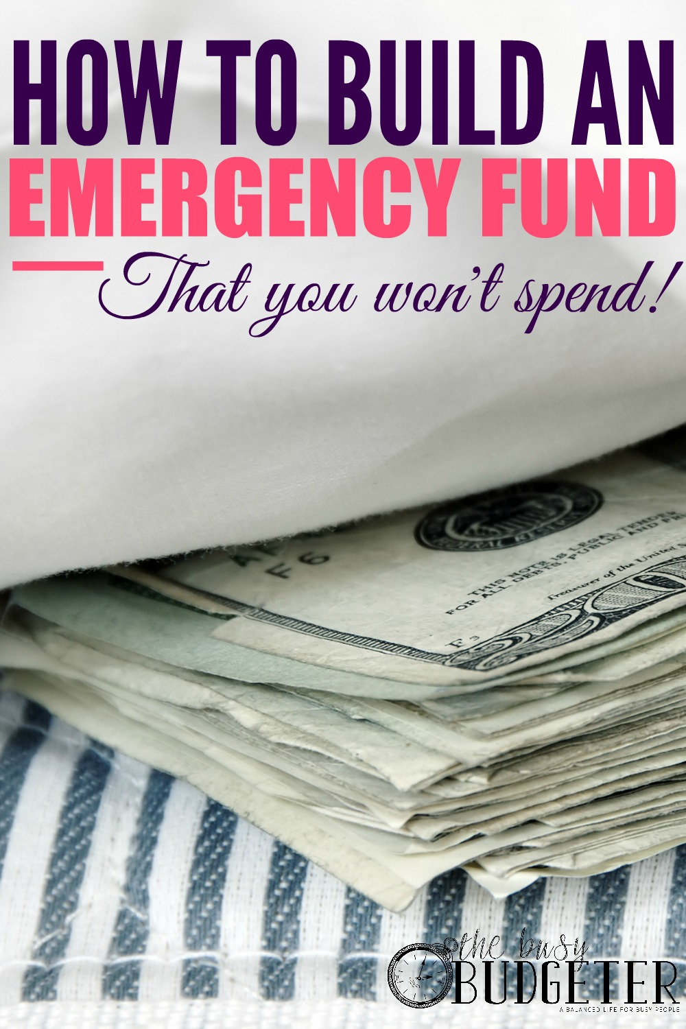 How to build an emergency fund that you won't. !!!! This makes SO much sense! I've been trying for three years to build an emergency fund but we keep spending it! I can't wait to sit down with Hubby tonight and show him this!