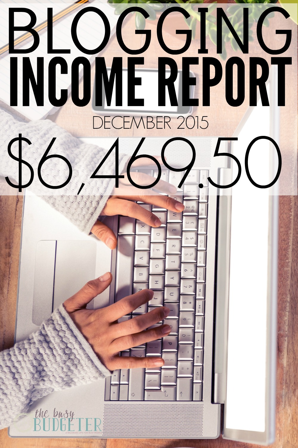 Blogging Income Report- December 2015 - $6,469.50 This is so motivating! I've been blogging for a while but never even thought about making money from it. Love that she breaks it down and explains where the money comes form and how she did it. Amazing! I'm going to have to go find more blog income reports now!