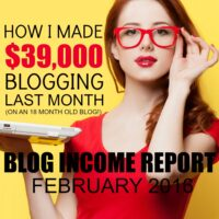 February 2016 Blogging Income Report