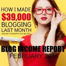 February 2016 Blogging Income Report