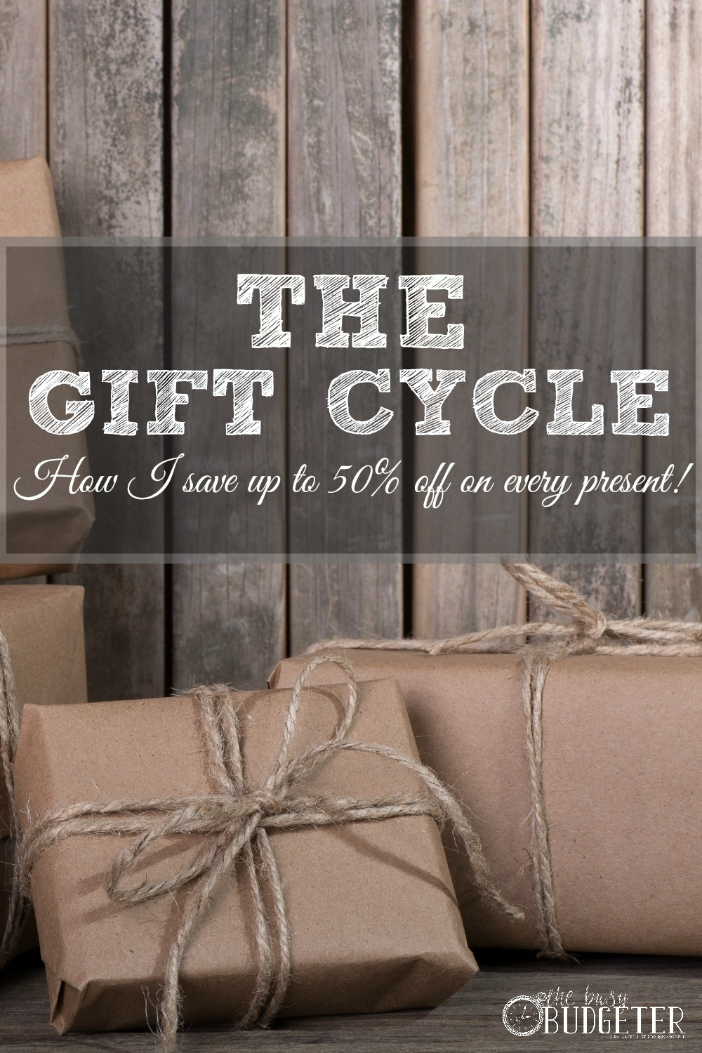 The Gift Cycle: How to Buy gifts for Less! We adopted this system last year and it made holidays and birthdays SO EASY this year! We actually gave better presents than usual, saved a ton of money and I didn;t have to do a last minute run to target for a last minute birthday party at all this year. HUGE difference. We had a gift budget of $400 for the whole year (including Christmas!) and we had some leftover at the end of the year!