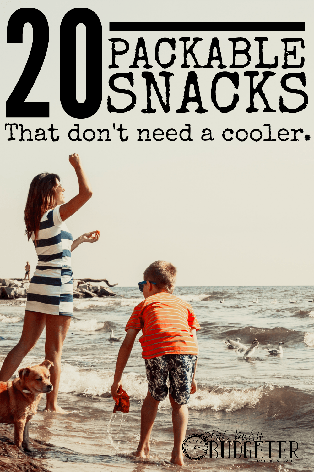 20 Packable Snacks that Don;t Need a Cooler. This is outstanding! I'm always looking for ideas to keep in the car. I spend a small fortune on eating out because I don;t have the time to eat ahead. Throw a few bags of these in the car and a case of water and boom. There is it. Snacks for everyone and I save a small fortune.