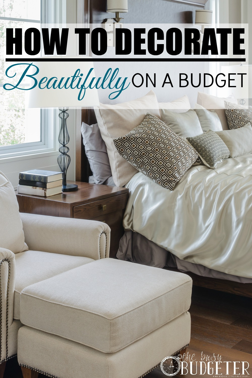 The 6 Step System to Decorate Beautifully on a Budget. Yes! Oh my gosh Yes! We just bought a new house and everything we own is old and dingy. I love that I start doing this now! Great ideas and having the system in place makes it so I don;t waste money on the little things like throw pillows at the expense of the things that will make the biggest impact. This was a refreshing pin after looking at decor ideas here all day that I could never ever afford!