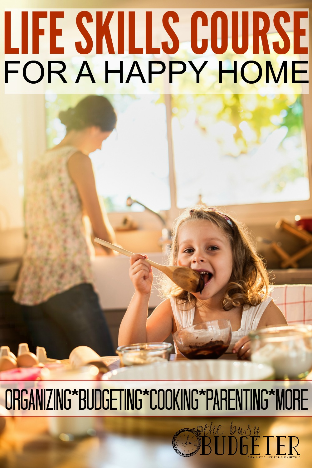 Life Skills Course For A Happy Home: Genius! I always felt like I MISSED SOMETHING that was supposed to teach me all these skills to be the perfect wife, mom, person, etc. Now I know I'm not the only one who felt like that! These courses actually look fun too!