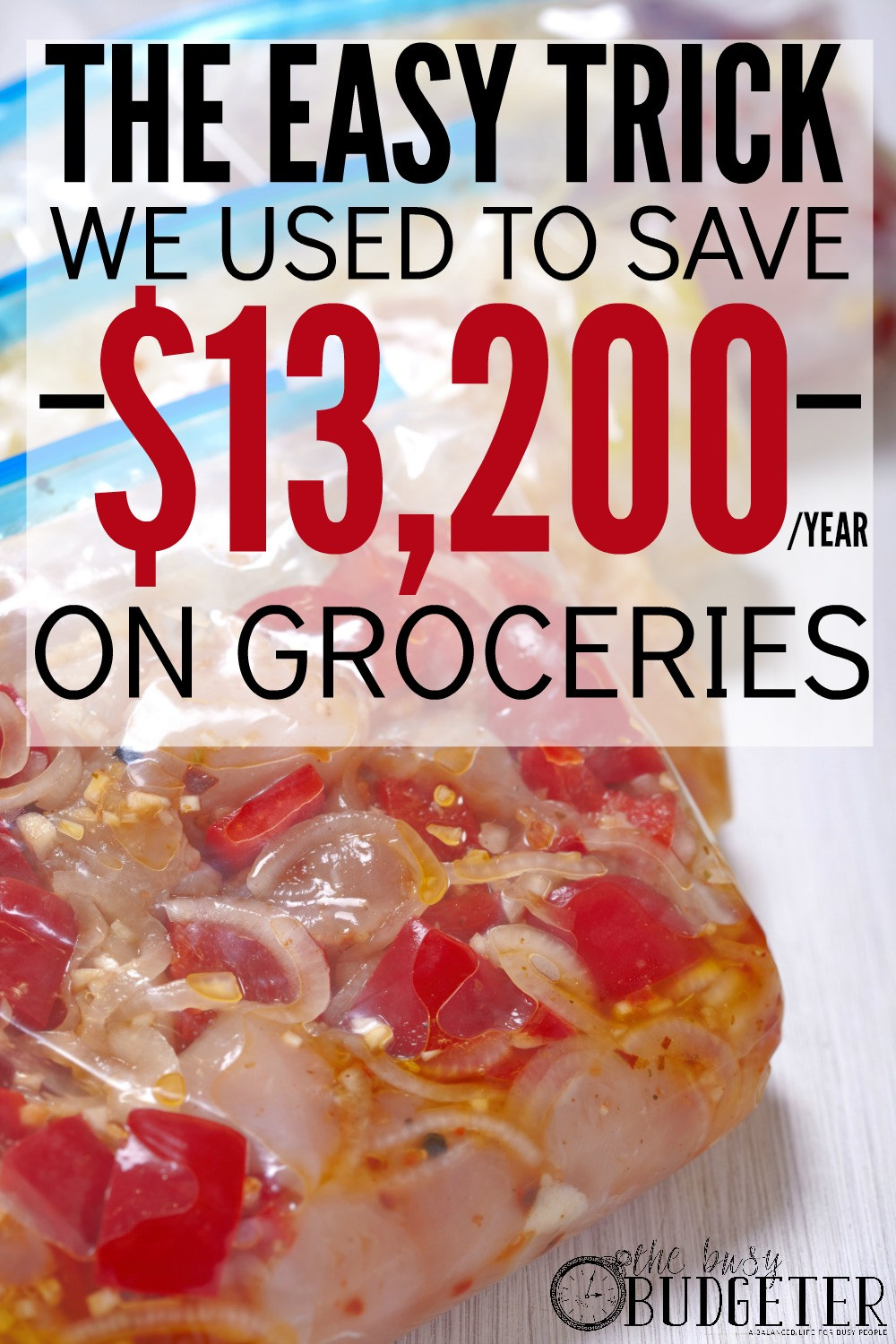 The Easy Trick We Used to Save $13,200/year On Groceries. I've been looking for an easy way to save on groceries! This sounds exactly like me. I've tried everything! Menu Planning, setting a higher grocery budget, setting a lower grocery budget, couponing, the cash back apps and memberhsip stores like Costco. No matter what I do, we spend a ridiculous amount of money on groceries and we never even seem to have anything in the house, This is worth a shot. I'm a little bit hopeful!