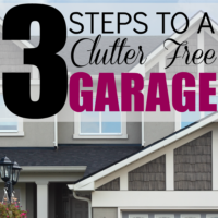 Three Steps to a Clutter free Garage!