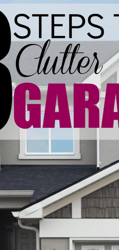 clutter free garage