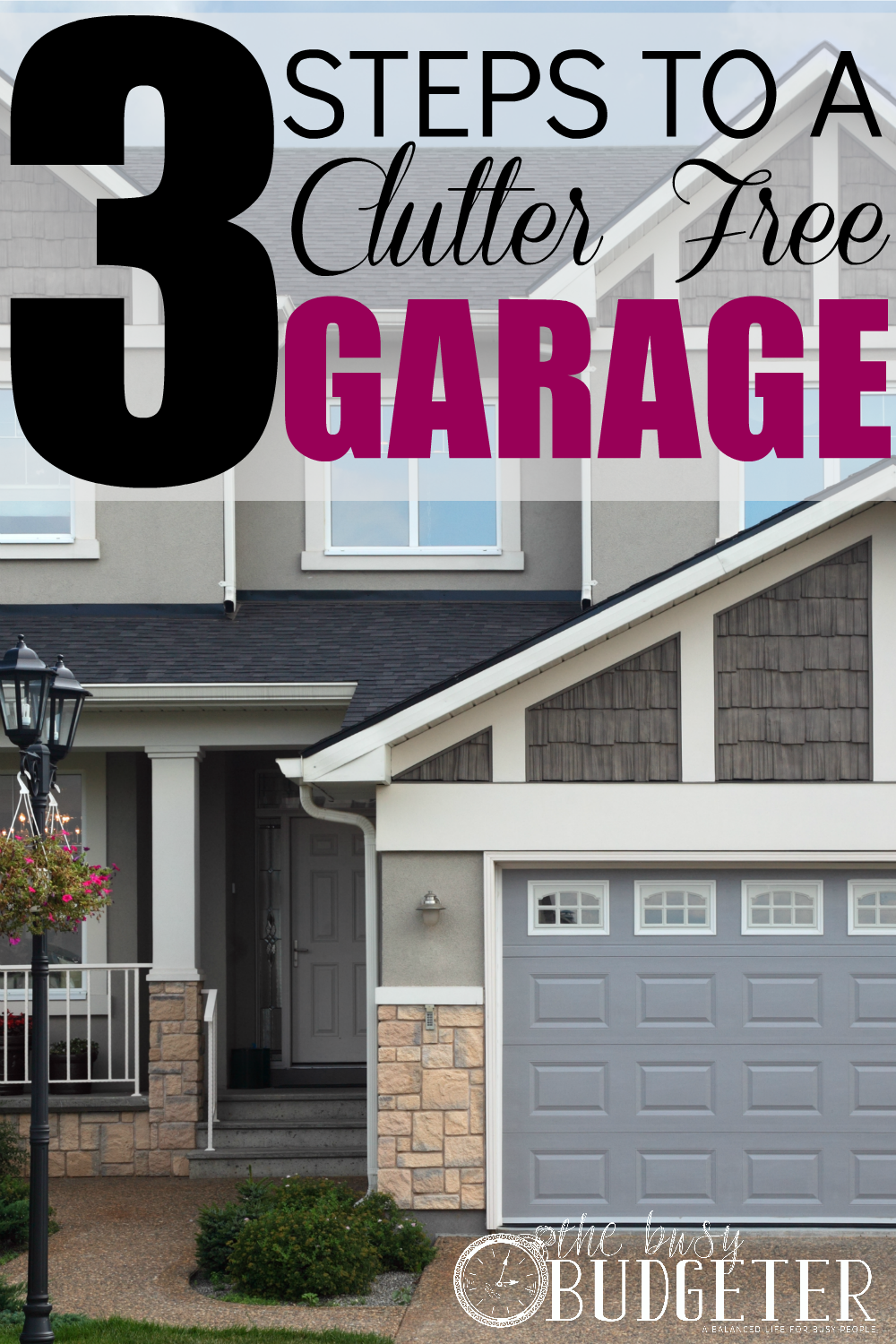 3 Steps to a Clutter free Garage. Love these tips! Our garage was such a mess and we tackled it this weekend. This post was a big help! we did all three steps and number two made the biggest difference. I never would have thought of that. My husband sent me to Pinterest to look up garage ideas (ahahaha... love him! I'm very helpful, clearly) and this was a winner.